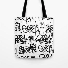 Crowns & Graffiti pattern Tote Bag