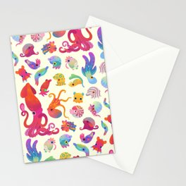 Cephalopod - pastel Stationery Cards