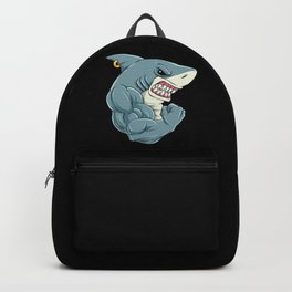 Shark At The Gym | Fitness Training Muscles Backpack