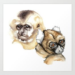 Two primates Art Print