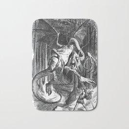 Jabberwocky Illustration from Alice in Wonderland Bath Mat