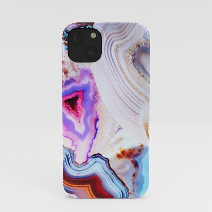 Agate, a vivid Metamorphic rock on Fire iPhone Case