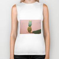 pineapples Biker Tanks featuring Pineapples! by Brandon Price