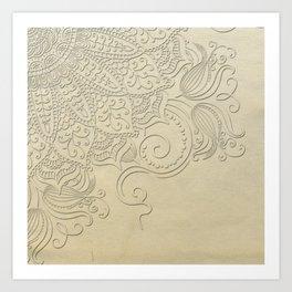 Mandala - Ghost canvas Art Print