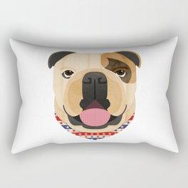American Bulldog Dog Portrait Rectangular Pillow
