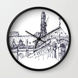 Sketches from Paris 05 Wall Clock