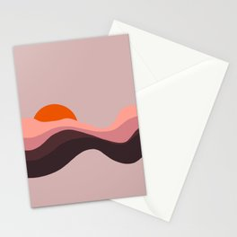 Sunset in Sahara Stationery Cards