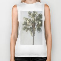 palm tree Biker Tanks featuring Palm Tree by Pure Nature Photos