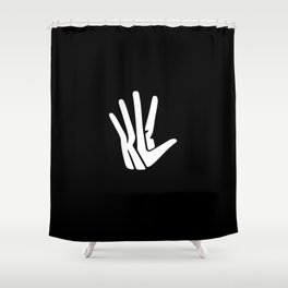 Hand Shower Curtain