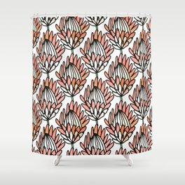 Protea Orange #homedecor Shower Curtain