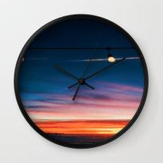 Sunset at Pismo Beach Wall Clock