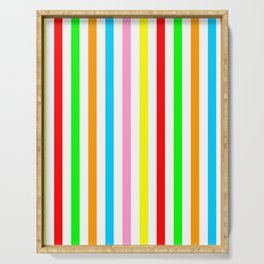 multicolor columns-mutlicolor,abstraction,abstract,fun,line,geometric,geometrical,columns, Serving Tray