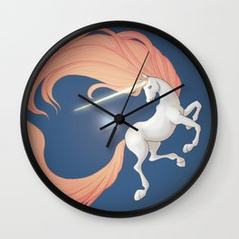 Blue Ether Wall Clock
