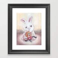 Ester and Bunny Framed Art Print