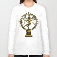 shiva Long Sleeve T-shirts featuring Shiva Nataraja by Alice9