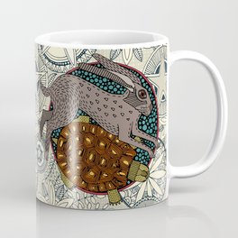 hare tortoise mandala Coffee Mug