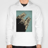 downton abbey Hoodies featuring Westminster Abbey by sinonelineman