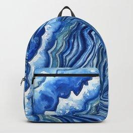 Blue Geode Backpack