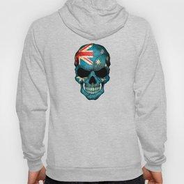 Dark Skull with Flag of Australia Hoody