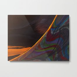 Skate ramp after a storm Metal Print