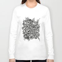 wedding Long Sleeve T-shirts featuring Wedding Flowers  by Felicia Atanasiu