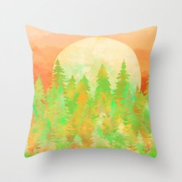 The Forest Moon Throw Pillow