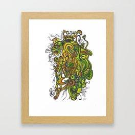 evocation of two souls Framed Art Print