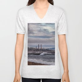Crashing Beach Unisex V-Neck