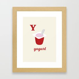 Y is for yogurt Framed Art Print