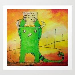 The Sorry Monster Art Print