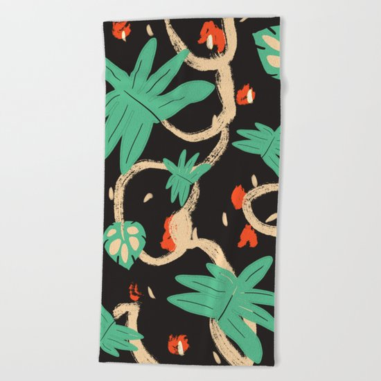 Jungle pattern Beach Towel