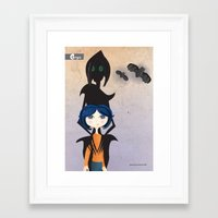 coraline Framed Art Prints featuring Coraline by GroovyRoo