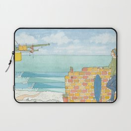 Beach in my Backyard - watercolour print 2 Laptop Sleeve