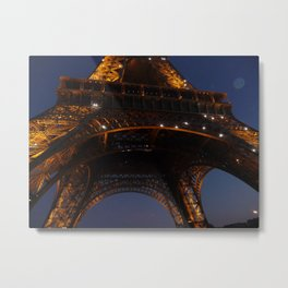 Eiffel Tower Below Metal Print
