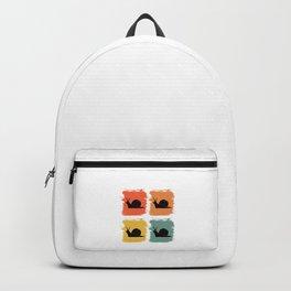 Snail Retro Pop Art Gift Idea Backpack