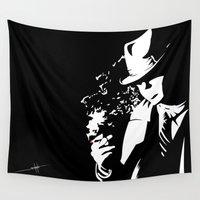noir Wall Tapestries featuring Noir by Solano