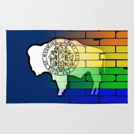 Rainbow Wall Wyoming Rug