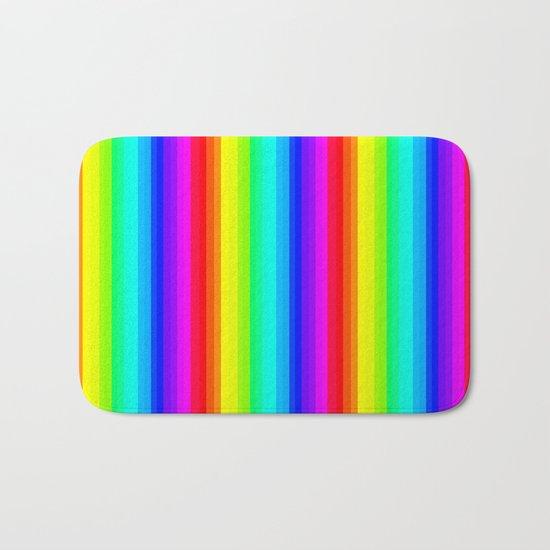 Rainbow Line #society6 Bath Mat