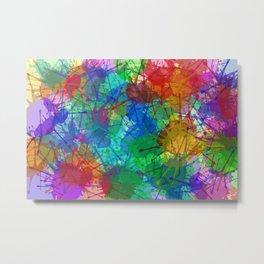 Color Spray Metal Print