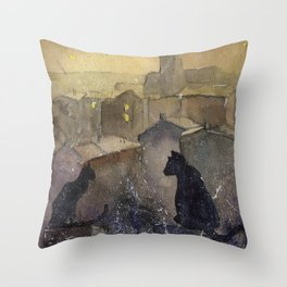 Roofcats Throw Pillow