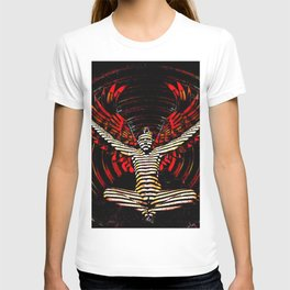0395s-PDJ Sensual Angel with Red Wings Woman Empowered as Succubus T-shirt