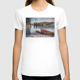 'Dome Island' Lake George Original Art Drawing - Canoe - Lake Wall Art Decor T-shirt