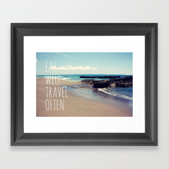 Eat Well Travel Often Framed Art Print