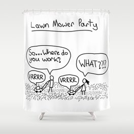 Lawn Mower Party Shower Curtain