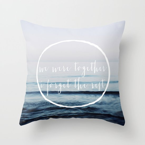 We Were Together Throw Pillow