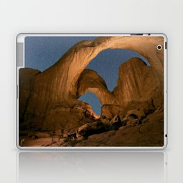 Double Arch And The Milky Way - Arches National Park - Moab, Utah. Laptop & iPad Skin