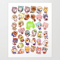 animal crossing Art Prints featuring Animal Crossing New Leaf by Kaiami