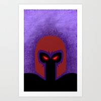 magneto Art Prints featuring Magneto by Sprite