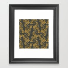 Ginkgo Fossils - Dark Framed Art Print