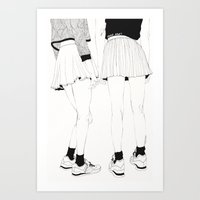Art Prints featuring We Don't Talk About That by Kaethe Butcher
